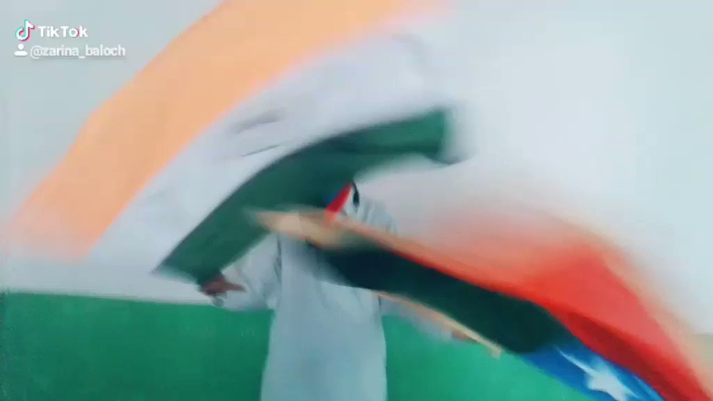 Happy #IndependenceDayIndia Must watch my #tiktok first video that how beautifully my brother is celebrating India #IndependenceDay with flag of #Balochistan freedom We Baloch are always involved with happiness our Indian friends & We believe India'll support us & follow me there