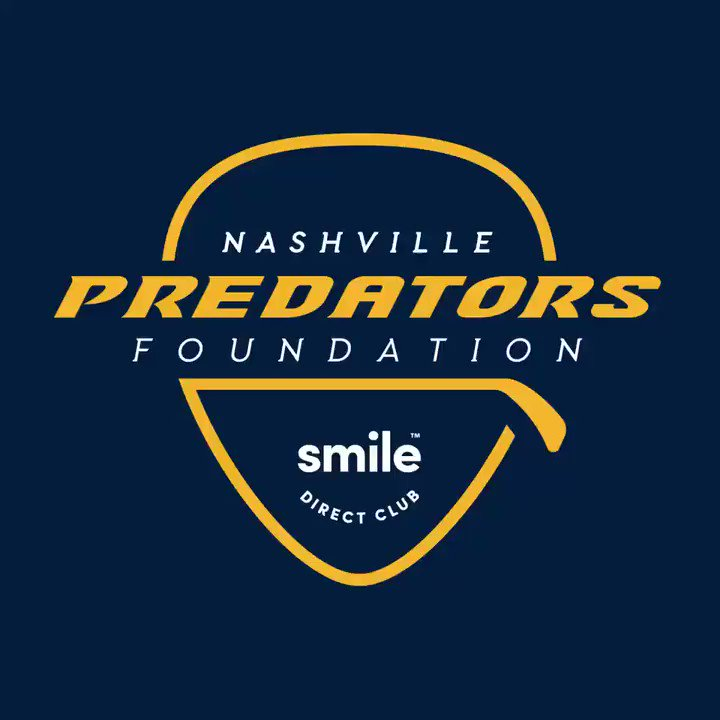 Here's something to smile about! 😁 The Foundation has teamed up with @smiledirectclub announcing a multi-year partnership to help impact Middle TN! #Preds #SmashvilleSmiles Info: bit.ly/308AkFs
