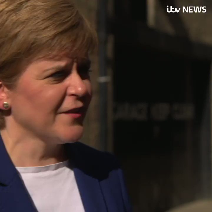 I think Jo Swinson has got it wrong on this SNP leader Nicola Sturgeon says the Lib Dem leader should be prepared to explore all options for stopping no deal itv.com/news/2019-08-1…