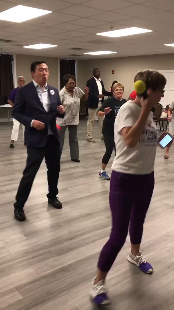 Andrew Yang Gets Shoutout From Chance The Rapper After Busting 'Cupid Shuffle' Moves