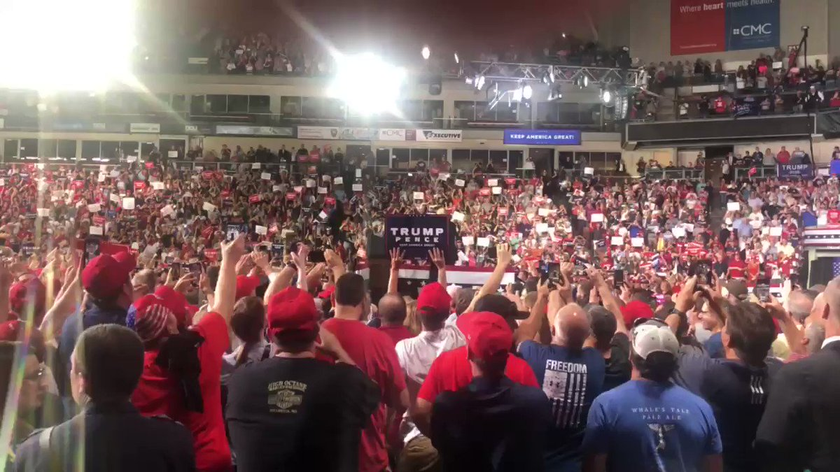 Is this the Biden rally or the Trump rally in Manchester, NH? Dems must realize Sleepy Joe isn't up to it. Actually, applause was prohibited at Joe's competing rally for fear it might wake up the audience. It worked there was no applause and every slept through it.