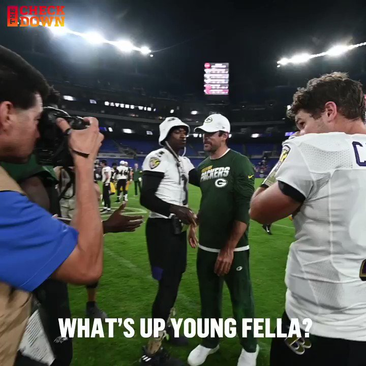 Aaron Rodgers Gives Lamar Jackson Some Savvy Advice