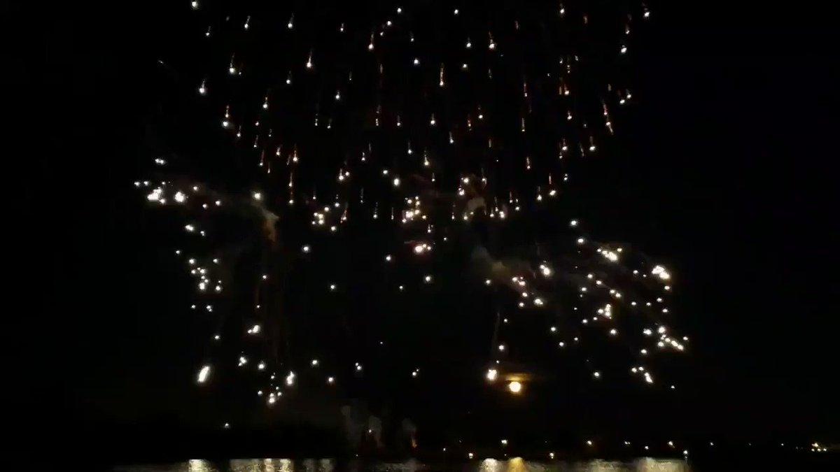 Image for the Tweet beginning: #GlobalFest fireworks timelapse (at least