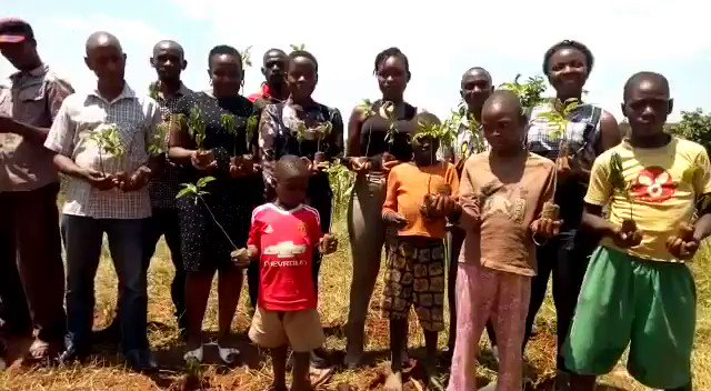 When others are destroying the earth on their birthdays, on my 15th birthday were giving back to the earth by planting trees. #LeahBirthdayTrees