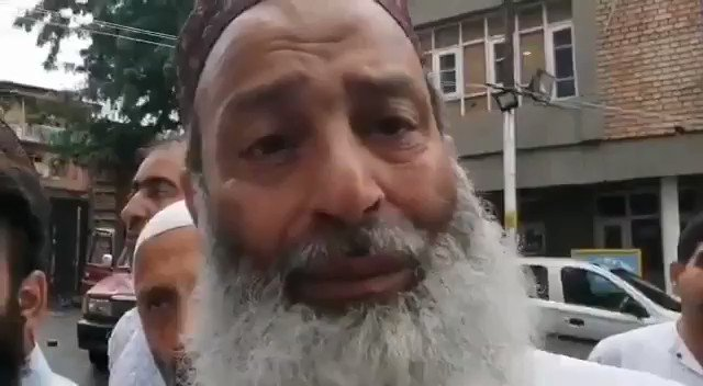 The most devastating part of this video isnt the sight of a 62-year-old Kashmiri man weeping. It is that he is compelled to thank the Indian occupation regime for granting him a one-minute conversation with his son. This humiliation is unbearable!