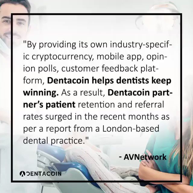 Image for the Tweet beginning: Did you know? @dentacoin is