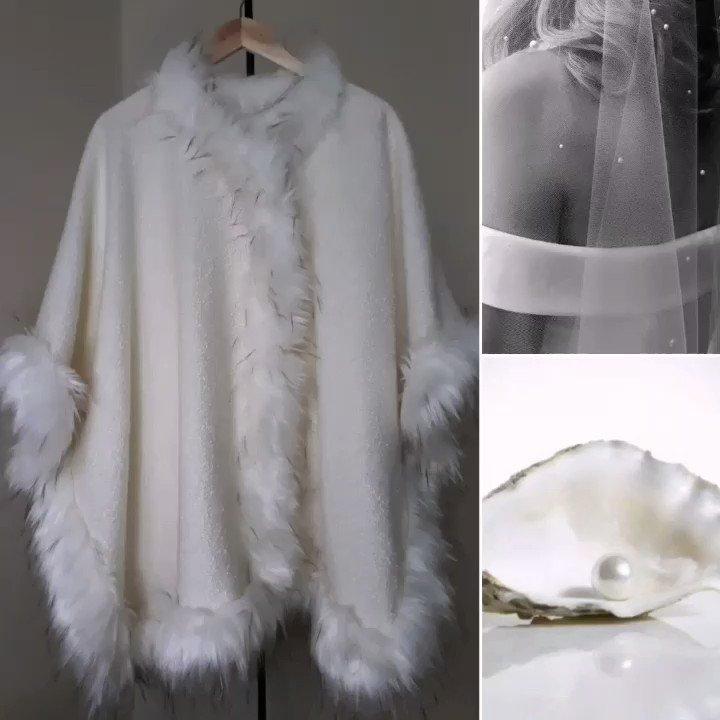 Alpaca wool Boucle cape/coat   #handmade #wedding #bridalcape #giftforher @Etsy @HyperRTs @SympathyRTs #etsyspecialt #SpecialtParty