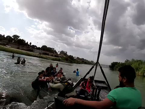 WATCH: @CBP rescues 28 illegal aliens as they attempt to cross the Rio Grande River into the United States. The group, which included 14 children from 8 months to 17 years of age, are victims of human smuggling. Thank you to our CBP agents for acting swiftly and saving lives!