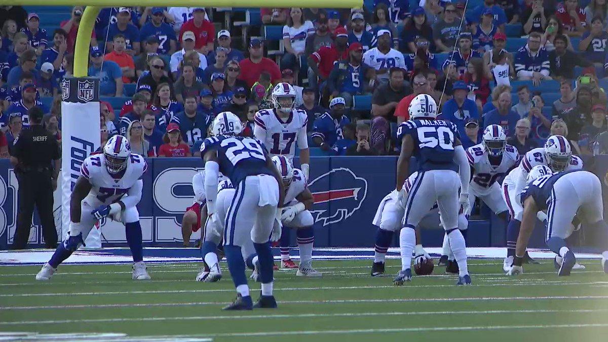Josh Allen also missed this throw Zay Jones on a seam route #Bills