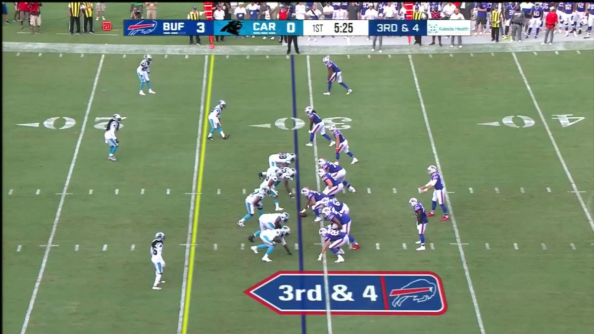 TONIGHT: Perfect touch and placement to Sweeney on a seam route As Sean McDermott would say, 'progress' #Bills