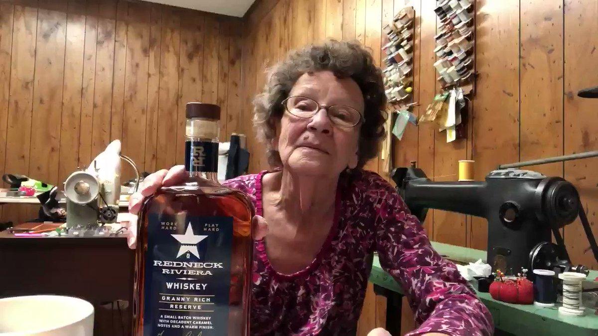 A special message from Granny Rich! #GrannyRichReserve REDNECKRIVIERA.com/whiskey #DrinkAmerican