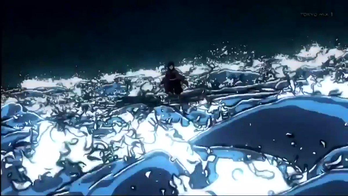 水の呼吸 拾壱ノ型 「凪」 を使う義勇さんがカッコよすぎる #鬼滅の刃 #kimetsu