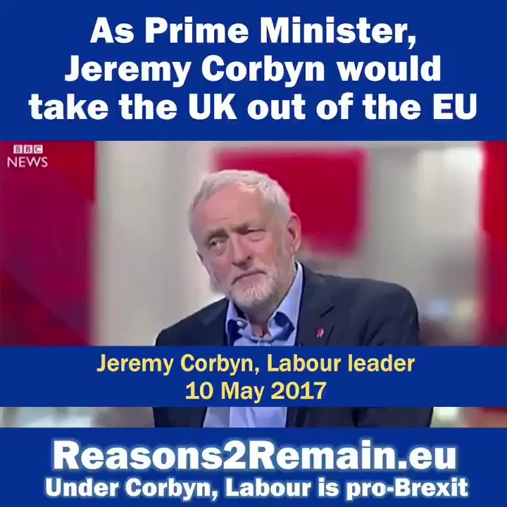 RT so others realise #JeremyCorbyn doesn't really want to #StopBrexit. #Disingenuous   Great video by @Reasons2Remain.
