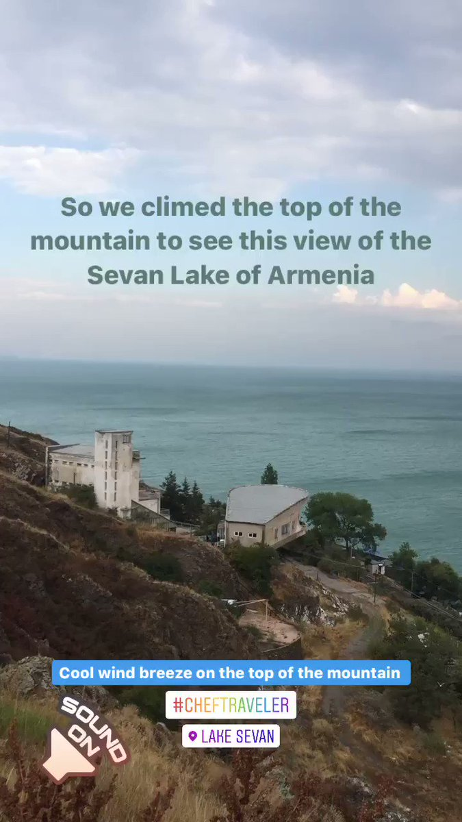 After climbing for like 250 stairs reached a place with amazing view that one can never forget in our life, in summers too the wind was freezing and really enjoyed a lot #LifetimeExperience #LakeSevan #Armenia #ChefTraveler #Brothers #BeautifulView 17.8.19