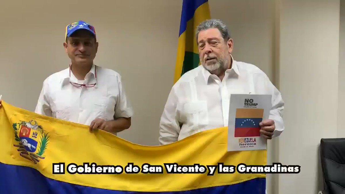 Agradecemos al Primer Ministro de San Vicente y las Granadinas, @ComradeRalph por sus palabras de rechazo al Bloqueo ilegal e infame de Estados Unidos, por su su apoyo a la soberanía del pueblo venezolano y su exigencia de respeto al Derecho Internacional #NoMoreTrump #NoMasTrump