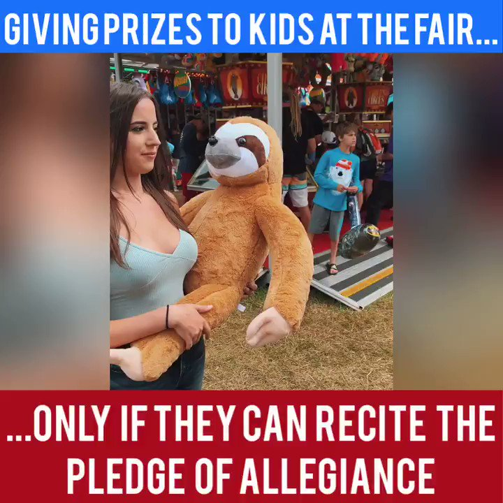 The kid was nervous, but he did it. 😂 The Left is trying to get rid of the Pledge but we need to keep the Pledge of Allegiance in our schools! 🇺🇸