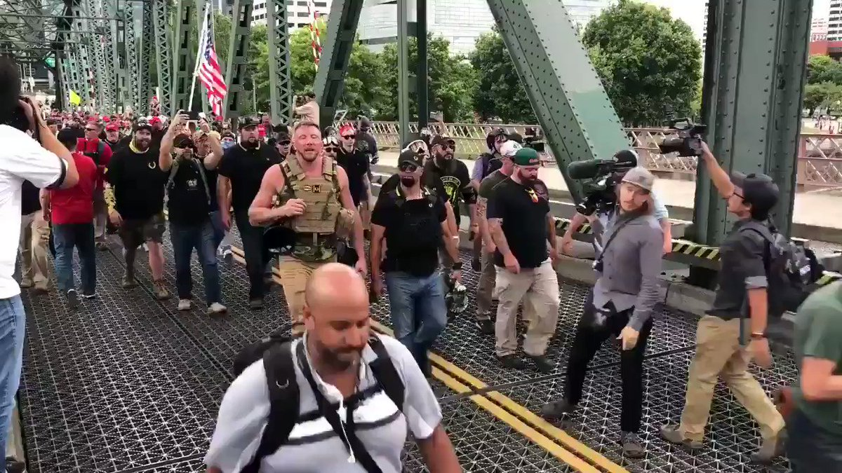 Look at all those Proud boys wearing MAGA hats and flashing white power signs. I wonder why everyone thinks Trump is a white supremacist and why he doesn't condemn them...