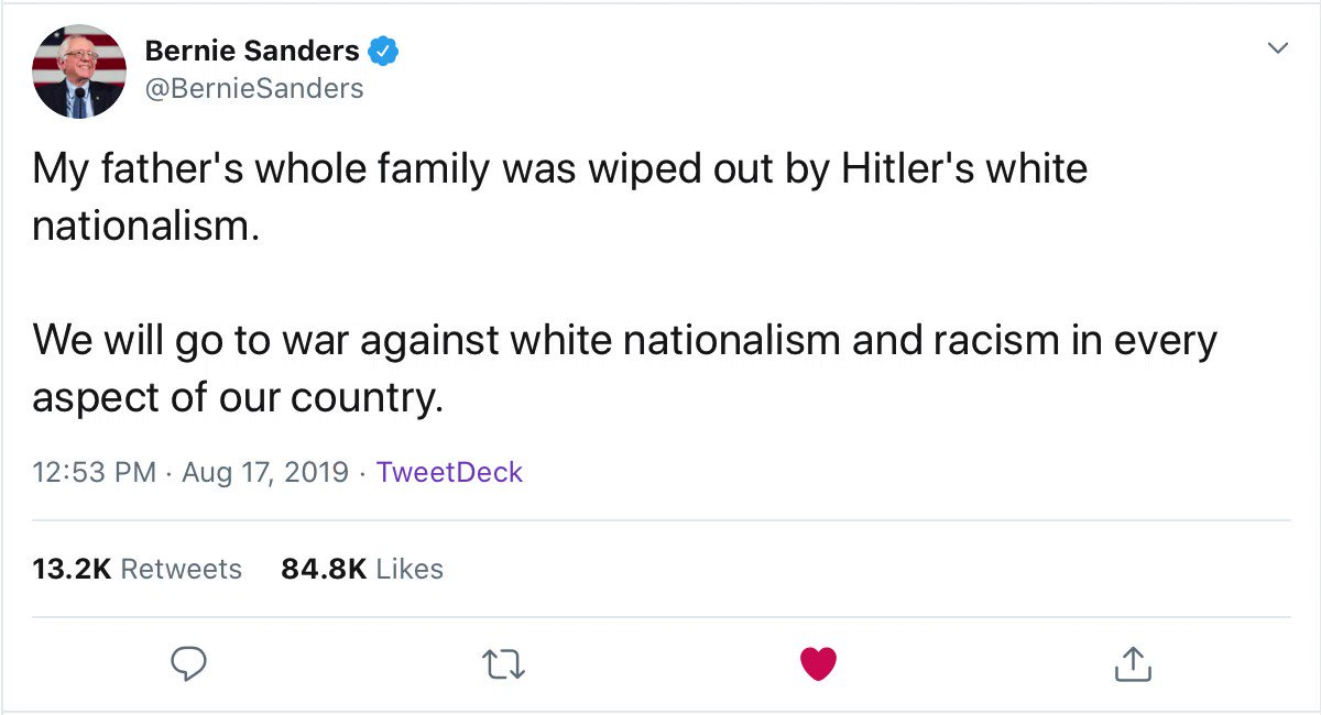 twitter algorithm unrivalled in promoting white supremacists in the replies to a jewish man talking about his family being killed by nazis