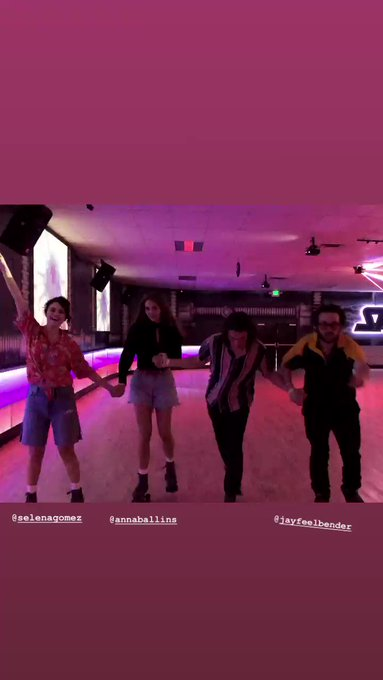 Selena Gomez looks healthy & happy celebrating one of her friend s birthday by roller skating!