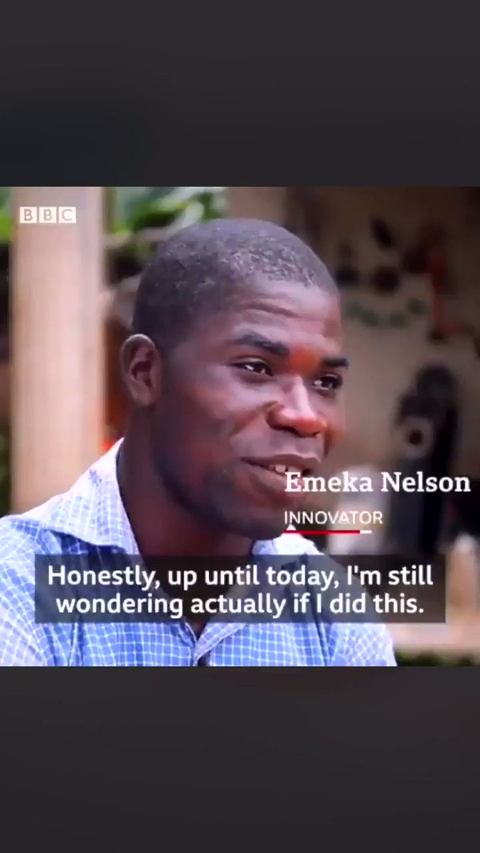 26-year-old Nigerian man, Emeka Nelson made a generator that is powered by water. He has no degree only a will to better the lives of poor Africans. Retweet the world needs to see this. This is Black Excellence 👑