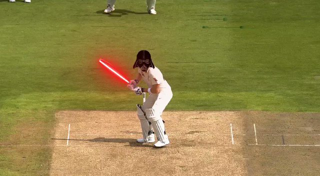 Figured out how @stevesmith49 is having so much success... #Ashes #Maytheforcebewithyou