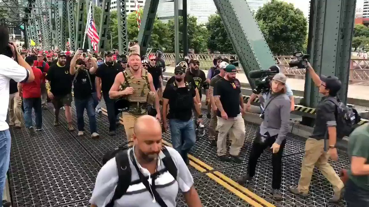 Pretty sure most Veterans think the same thing when they see these white supremacist pigs wearing & waiving the US Flag & promoting hate. We defeated fascism once. We will fucking defeat it again.