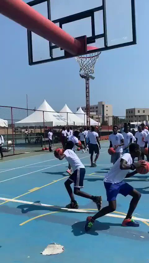 The #PMBBasketball camp with @Pops has tipped off in Ghana!