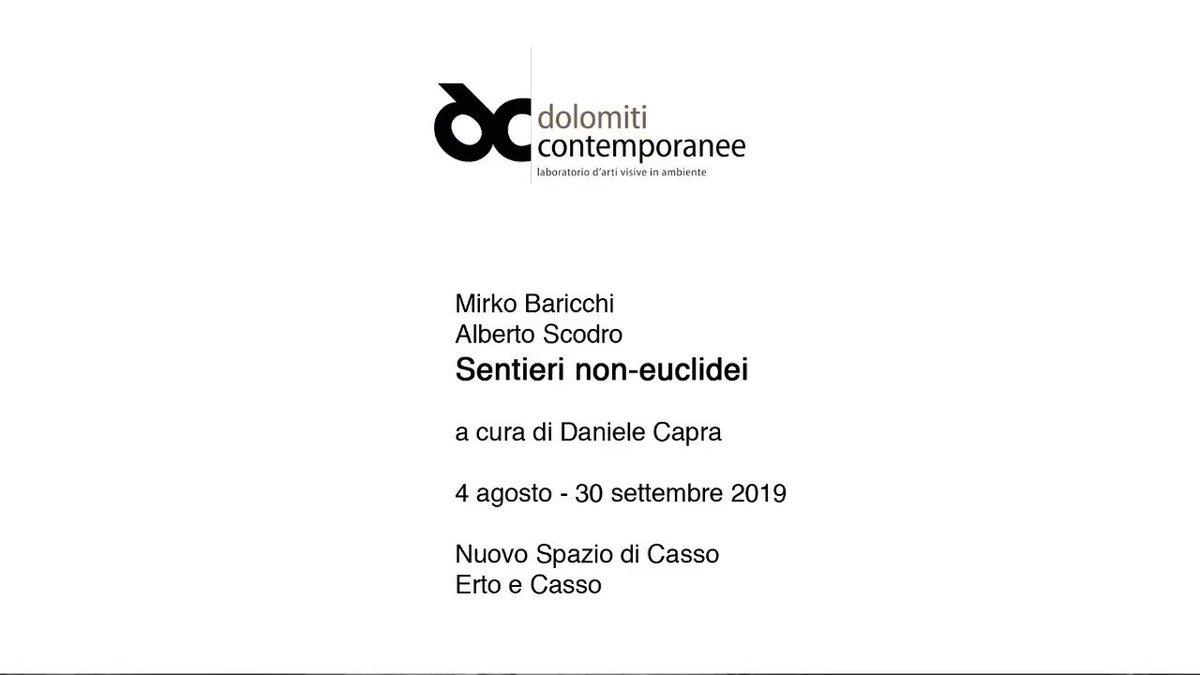 Ecco il video della mostra #SentieriNonEuclidei con opere di @MirkoBaricchi e #AlbertoScodro che ho curato per @DContemporanee a #Casso. #contemporaryart #DolomitiContemporanee
