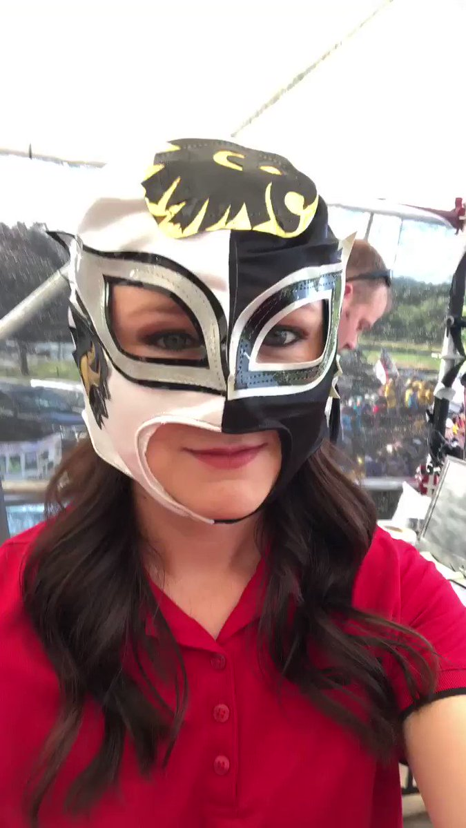 This never gets old... Mexico gave us wrestling masks at the Little League Softball World Series... we got a good laugh out of it! @LLSBWS @MicheleSmith32 @ascarborough