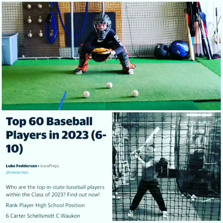 Congrats to Carter Schellsmidt on being recognized in the Iowa Preps Top 60 Baseball Players for 2023.  Carter was ranked 6th out of the 60 student-athletes selected.