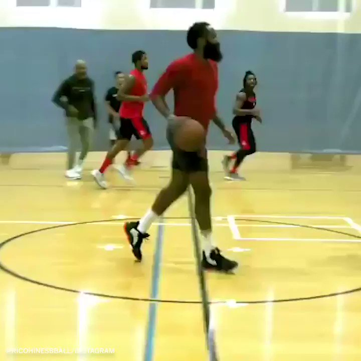 Harden is a wizard with the ball 🔁 (via @ricohinesbball)