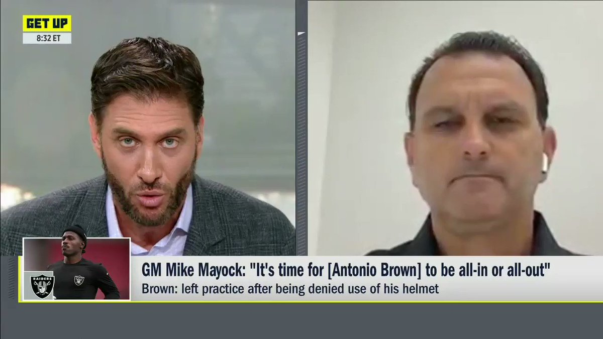 Antonio Brown's agent Drew Rosenhaus explains why AB is not in camp right now: