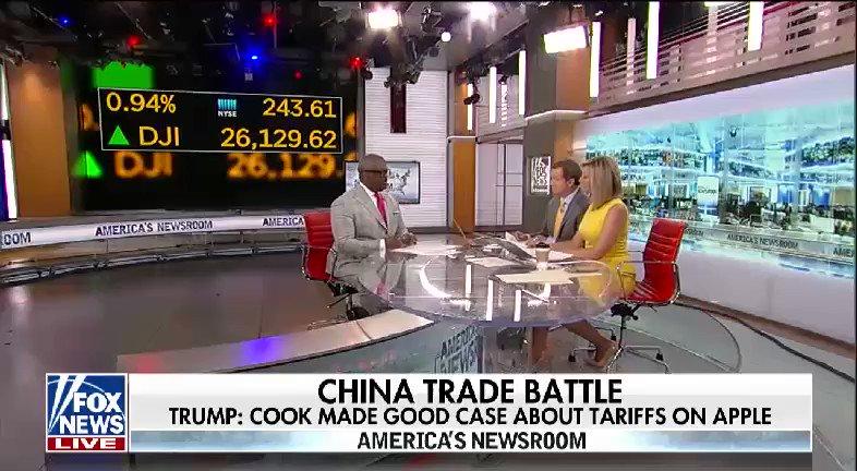 WATCH: @SandraSmithFox and @JonScottFNC spoke with @cvpayne on the China trade battle #nine2noon https://t.co/J37pcMwPjN