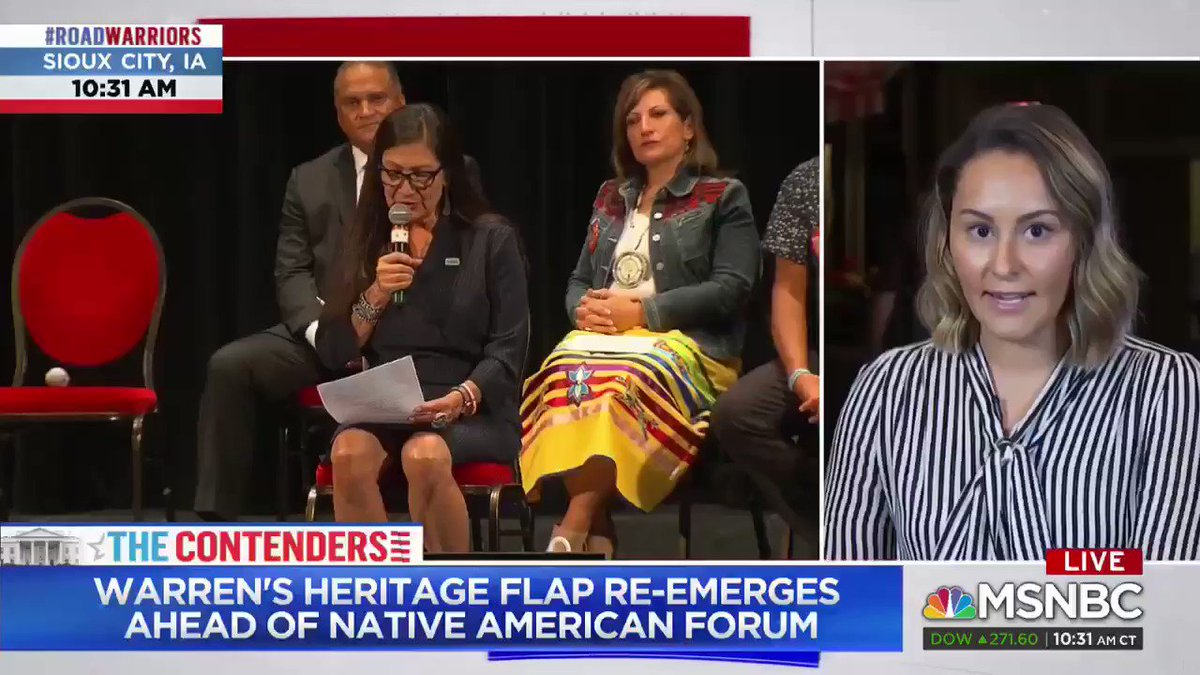 """Native American Forum Attendee to MSNBC: """"Is Elizabeth Warren going to be a woman of color now?"""" https://t.co/CGC0mZW7q4"""