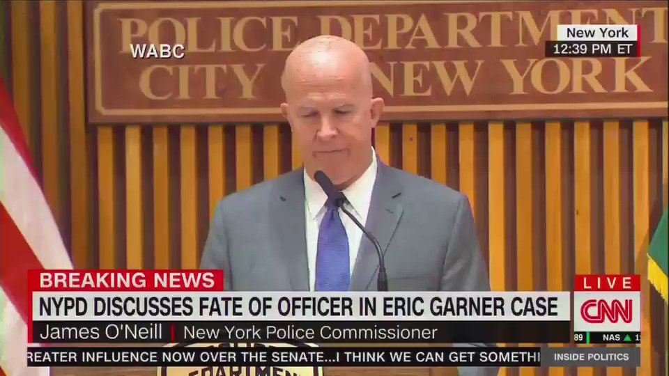 NYPD announces officer involved in Eric Garners death will be fired