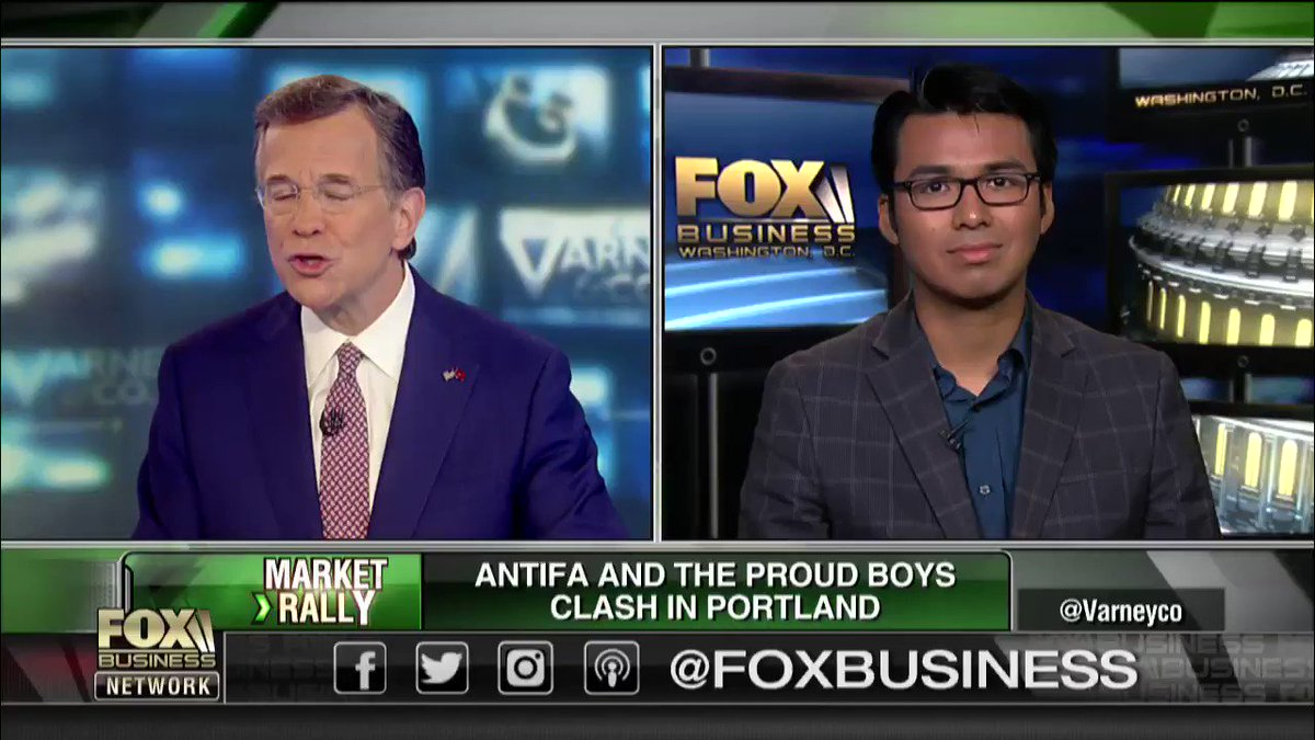 "Former #Antifa member Gabriel Nadales joined @DavidAsmanfox today to discuss designating Antifa a terrorist group. ""There were one thousand officers there, yet they weren't able to contain the threat of Antifa."" #ProudBoys #PortlandProtest #VarneyCo https://t.co/4Tj60jq87o"