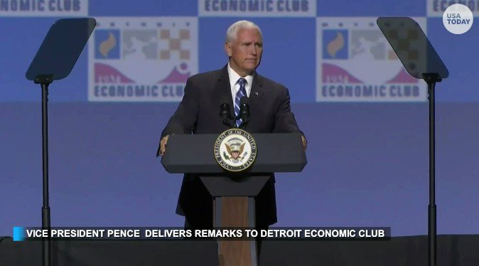 """VP Mike Pence: """"Lets let Michigans representatives in Washington know that Michigan and America need the USMCA! It's a win for manufacturing, and a win for Michigan."""""""