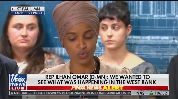 Hmm  @IlhanMN claims that barring her from entry is inconsistent with Israel being an ally of the United States  But @IlhanMN is calling for a global boycott of Israel - as a Congresswoman   That's an affront to our alliance with them.  https://t.co/1GsY6OHPqn