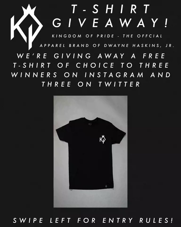 T-Shirt giveaway! Entry rules in the tweet below, all winners will be contacted one week from today, Monday August 26th. Good Luck! • #KingdomOfPride #KOPclothing #CrownedByGod