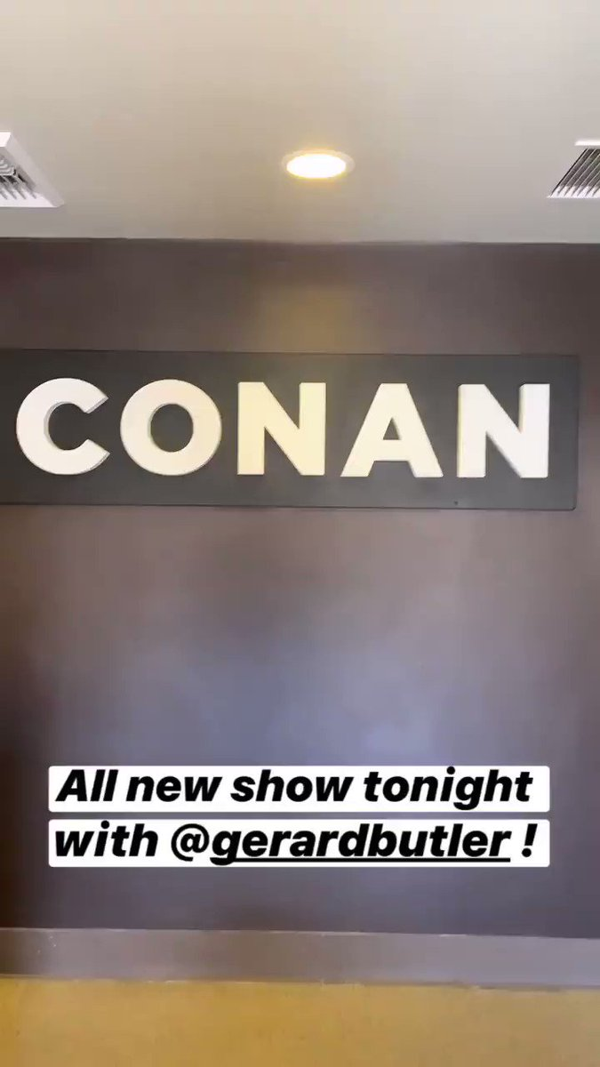 We're back with an all-new episode TONIGHT with guest @GerardButler! Go backstage at #CONAN @ http://instagram.com/teamcoco
