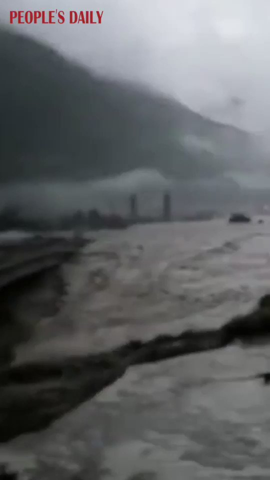 1 firefighter reported dead, 3 people missing after multiple mudslides hit Wenchuan County, SW Chinas #Sichuan Province on Tue: local authorities
