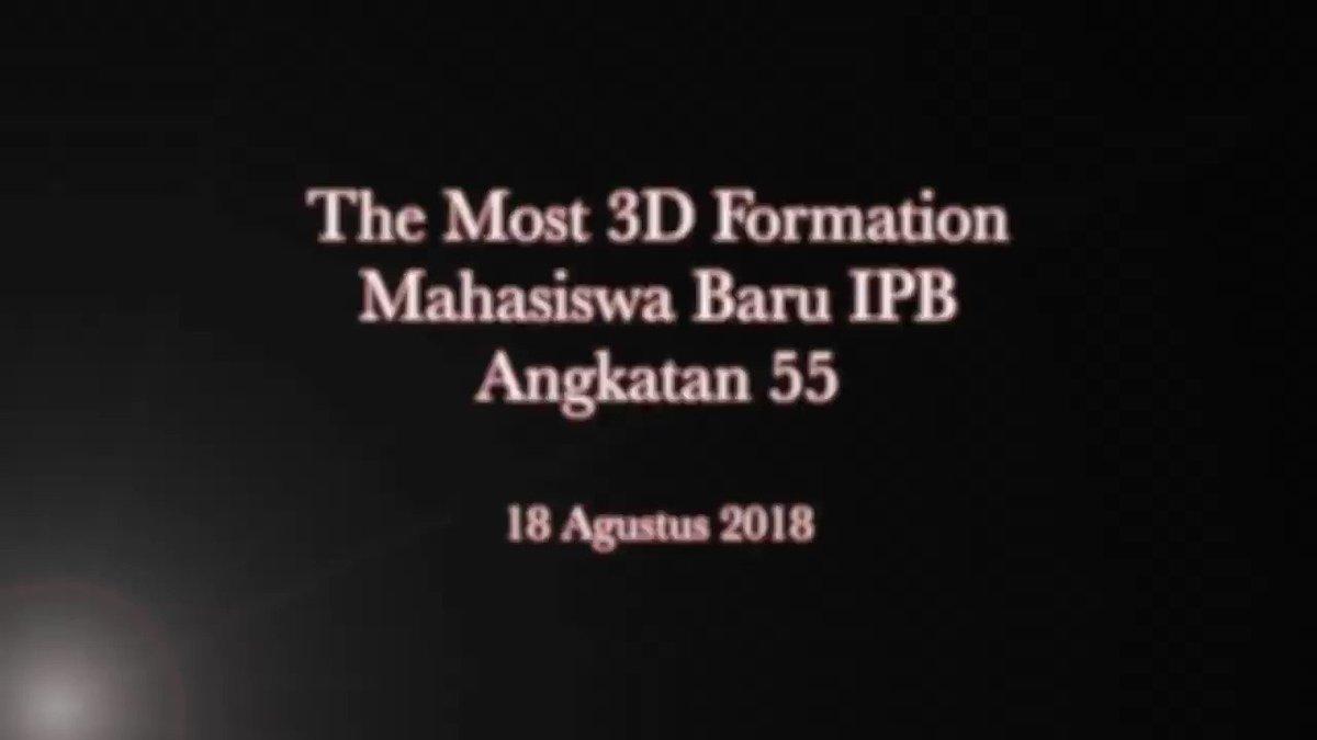 IPB keren..! Pecahkan rekor dunia formasi 3D oleh Mahasiswa baru IPB Angkatan 55 dengan 55 formasi.