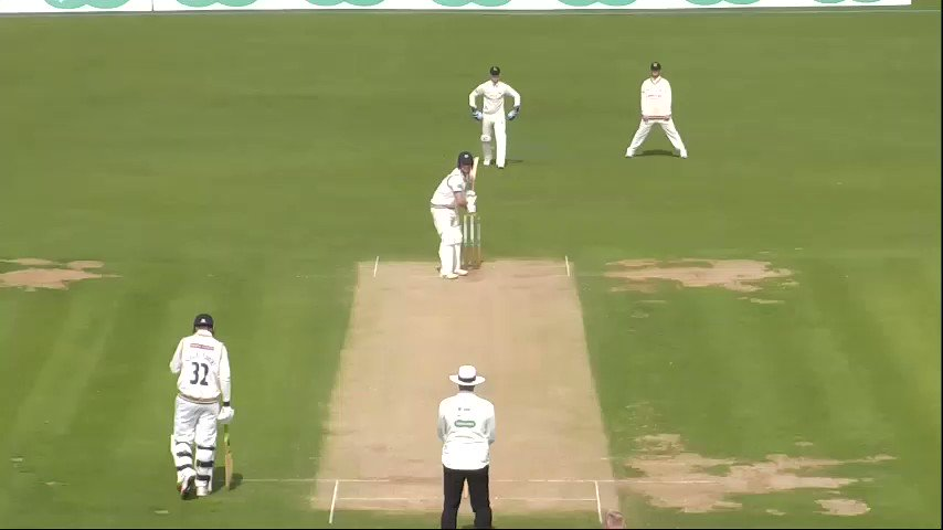 REPLAY | Unfortunately the catch is off camera but you can see by the reaction of Luke Wood that Academy player Louis Bhabra has pulled off a sensational catch. Follow #YorksvNotts live 👉http://socsi.in/g_E1w7T