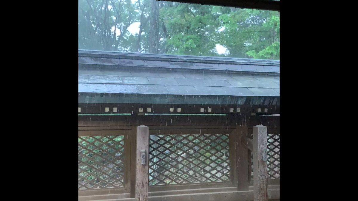 ノリで栃木まで祈祷しに行ったんだけど、始まった瞬間、グシャグシャの大雨降ってきて日頃の行いだなと思いました(神主さんが映ってたので一部カット)