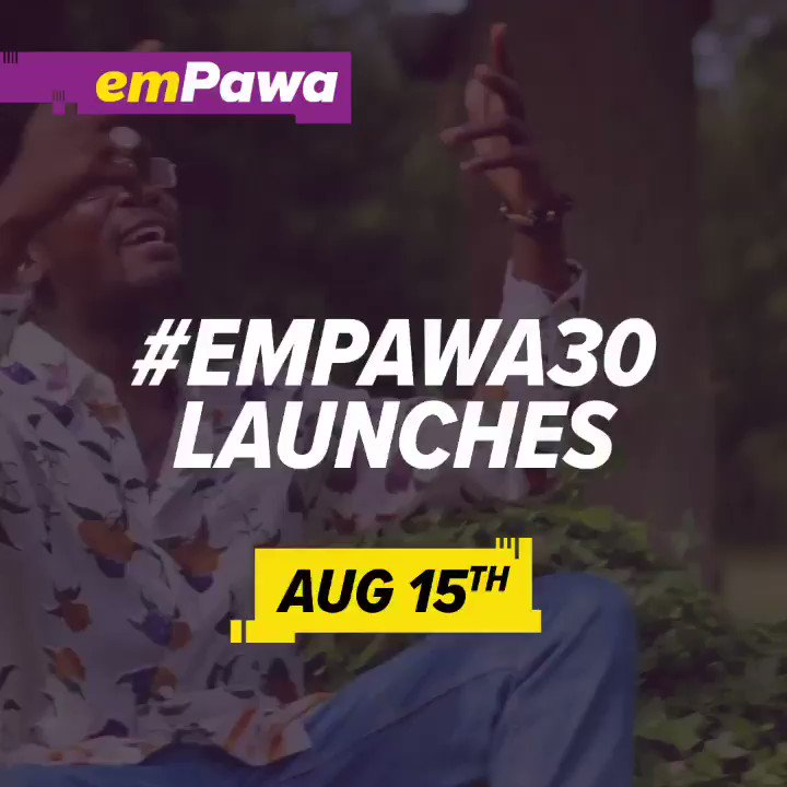 Big announcement Sarkcess Music & Her President @sarkodie now on board officially to Support @emPawaAfrica #Empawa30