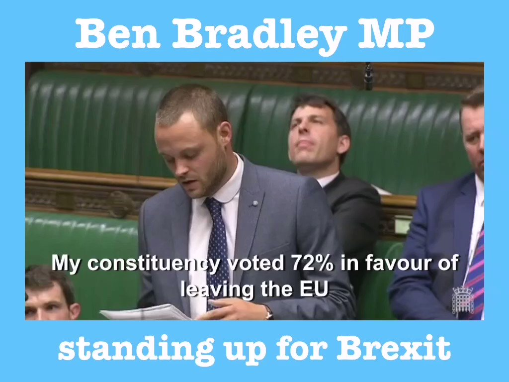 @martinclifford1 Correct I have not voted against no deal at any stage. I am not trying to block it, you have totally made that up. If you want to email me on Ben.bradley.mp@parliament.uk I can fill you in. Evidence here: