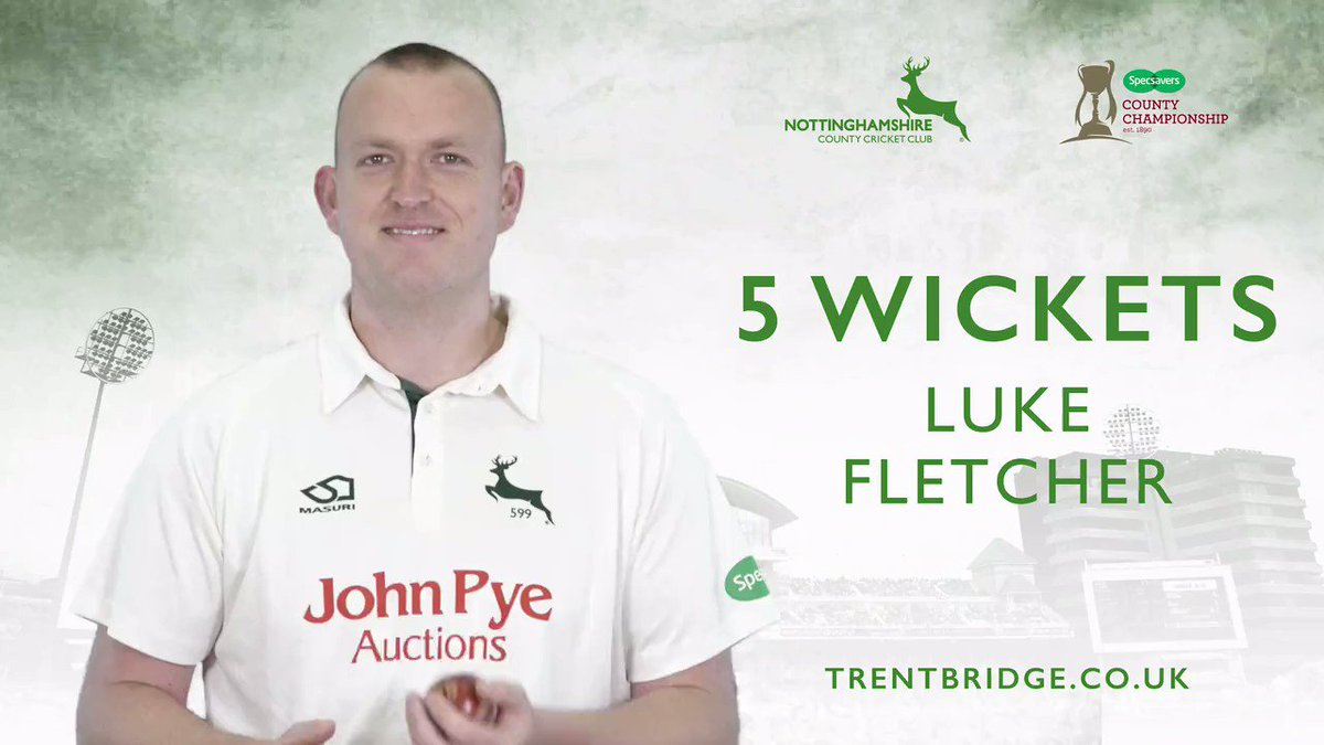 WICKET | Luke Fletcher has a superb 5-wicket haul as Ben Coad edges to Coughlin in the slips to go for 11. Yorkshire are 320-9 in their second innings, leading by 368 runs.  Follow #YorksvNotts live 👉http://socsi.in/g_lF2SF