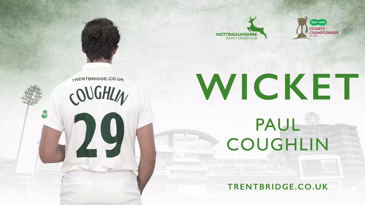 WICKET & END OF INNINGS | Coughlin does all the work as he has Maharaj (35) caught and bowled to leave Yorkshire 338 all out in their second Innings. Follow #YorksvNotts live 👉http://socsi.in/g_RC9cy