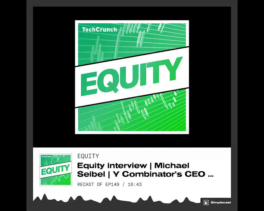 """At #YCDemoDay, we shot a special edition of #EquityPod. On this episode, @mwseibel of @ycombinator speaks to the harsh reality that """"most startups die. Listen to the full episode here: tcrn.ch/2zmiX8p"""