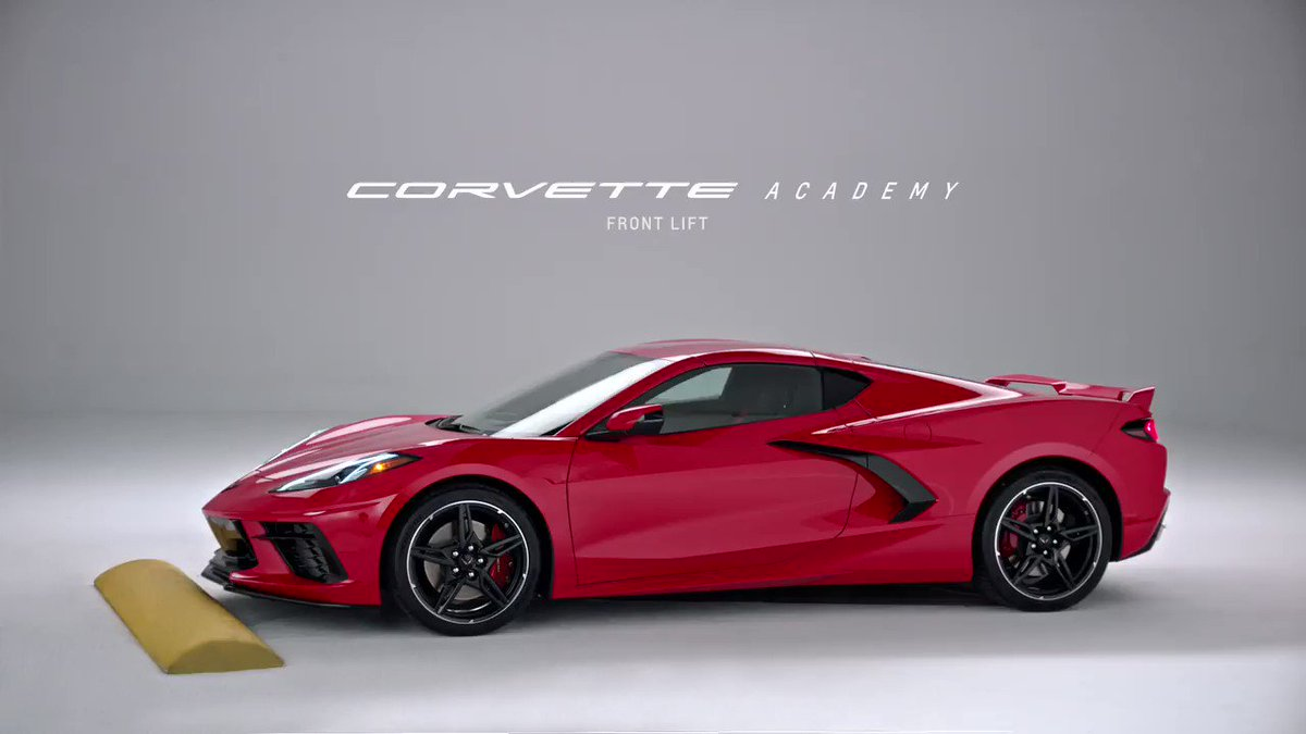 Did you know? Drivers can now raise the front of their Corvette almost two inches in less than three seconds with the available front lift in the 2020 Corvette. https://t.co/j9mgZKdu9v